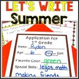 Kindergarten Summer Writing - Kindergarten End of the Year Writing - No Prep!