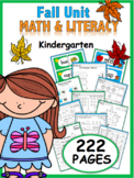 Kindergarten Fall Resource Packet {common core aligned}