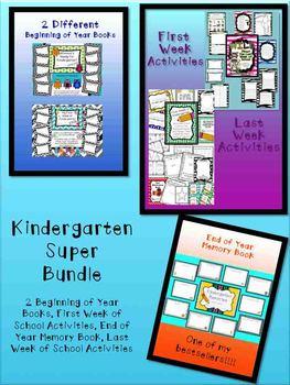 Kindergarten Super Bundle (Beginning and End of the Year Sets)