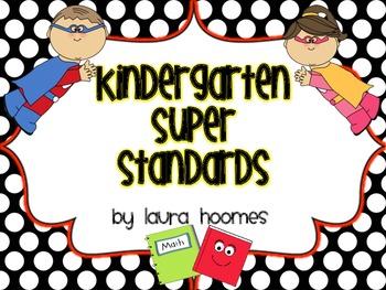 Kindergarten Super Standards COMMON CORE Florida