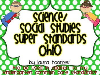 Kindergarten Super Standards- OHIO Science/Social Studies