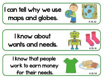 Kindergarten Super Standards- UTAH Science/Social Studies
