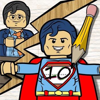 Kindergarten Superhero Math-- Numbers 0 - 20 Foldable Freebie!