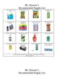 Kindergarten Supply List Eng/Span