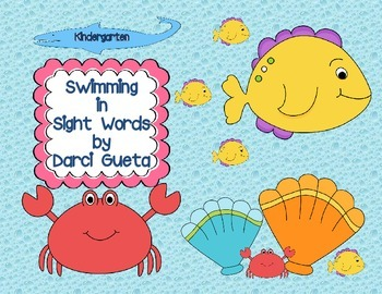 Kindergarten:  Swimming in Sight Words