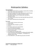 Kindergarten Syllabus