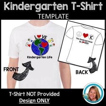 Kindergarten T-Shirt TEMPLATE for Heat Transfers