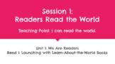 Kindergarten TC Unit 1 - We Are Readers GOOGLE SLIDES (Dis