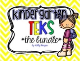 """Kindergarten TEKS Bundle - """"I can..."""" Statement Cards"""