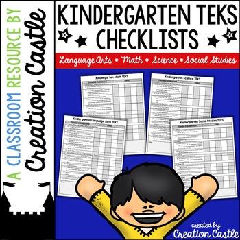 Kindergarten TEKS Checklists