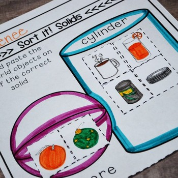 Kindergarten TEKS Geometry Printables: Match, Sort & Graph 2-D Shapes/3-D Solids