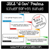 "Kindergarten TEKS ""I Can"" Statement Cards Bundle"