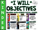 "Kindergarten TEKS: ""I Will"" Objectives {Print & Go-or-Editable}"