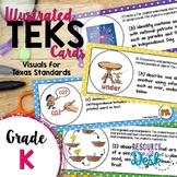 Kindergarten TEKS - Illustrated and Organized Objectives Cards