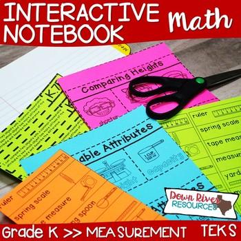 Kindergarten Math Interactive Notebook: Measurement (Length, Weight ...