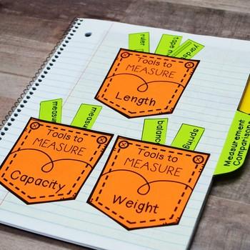 Kindergarten Math Interactive Notebook: Measurement (Length, Weight, & Capacity)