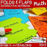 Kindergarten TEKS Math Interactive Notebook Fold & Flaps
