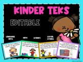 Kindergarten TEKS Posters-Bundled Objectives-Editable