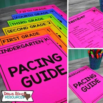 Kindergarten TEKS Year Planner-Back to School-Texas Curriculum Pacing Guide