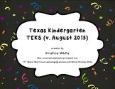 Kindergarten TEKS v.2015