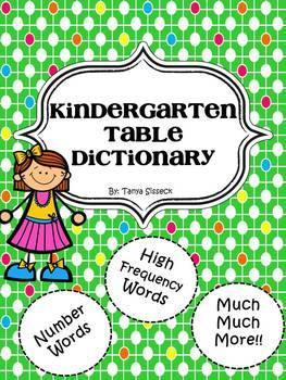 Kindergarten Table Dictionary