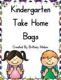 Kindergarten Take Home Bags