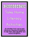 Pre-K / Kindergarten / ELL Take Home Literacy Activities