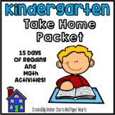 Kindergarten Take Home Packet - Learn From Home - Distance