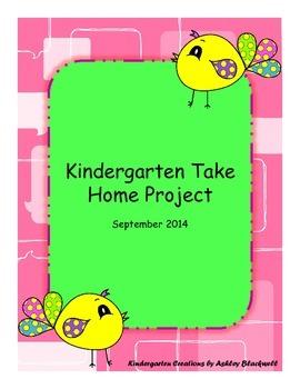 Kindergarten Take Home Project-September