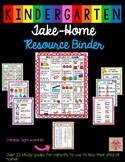 Kindergarten Take-Home Study Guide and Resource Binder for