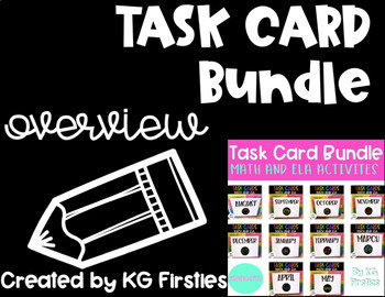 Kindergarten Task Card Monthly Preview