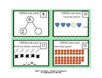 Kindergarten Task Cards - 80 Card Bundle!