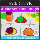 Kindergarten Task Cards - Alphabet Play Dough