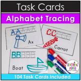 Kindergarten Task Cards - Alphabet Tracing