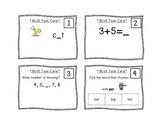 Kindergarten Task Cards - Blue Set