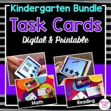 Kindergarten Task Cards BUNDLE (digital and printable)