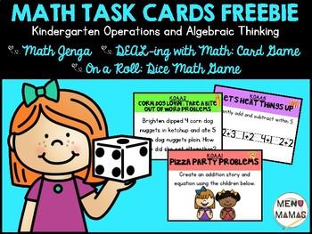 Kindergarten Task Cards FREEBIE