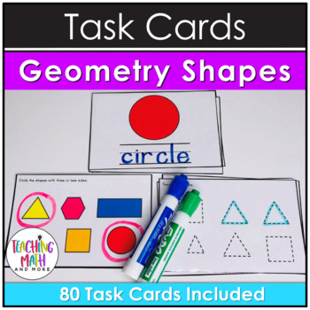 Kindergarten Task Cards - Geometry Shapes