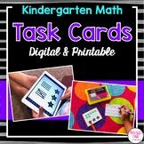 Kindergarten Task Cards for Math Centers (Digital & Printable)