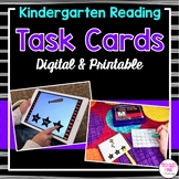 Kindergarten Reading Task Cards (Digital & Printable)