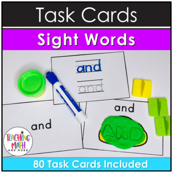 Kindergarten Task Cards - Sight Words