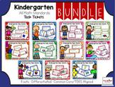 Kindergarten Bundle: All Math Standards: Task Tickets (Dif