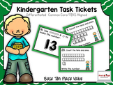 Kindergarten Task Tickets: Math: Base Ten Place Value (Dif