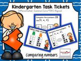 Kindergarten Task Tickets: Math: Comparing Numbers (Differ