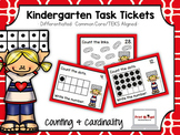 Kindergarten Task Tickets: Math: Counting and Cardinality (Differentiated)