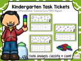Kindergarten Task Tickets: Math: Data: Classify & Count (Differentiated)