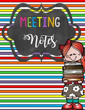 Kindergarten Teacher Binder - Meeting Notes