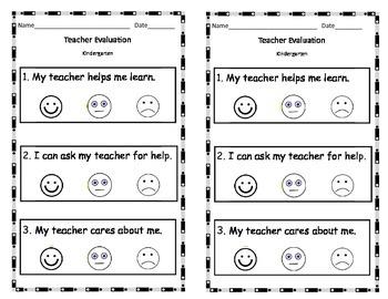 Kindergarten Teacher Evaluation