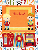 Kindergarten Teacher Plan Book-Red, Orange, Yellow