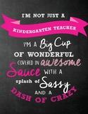 Kindergarten Teacher Sign